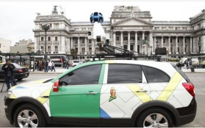 Press releases about the implementation of Google Maps Street View service in Ecuador since 2014